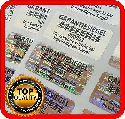 250/sigillo di garanzia Etichette sigillo di garanzia di sicurezza adesivo ologramma 32/x 15/mm