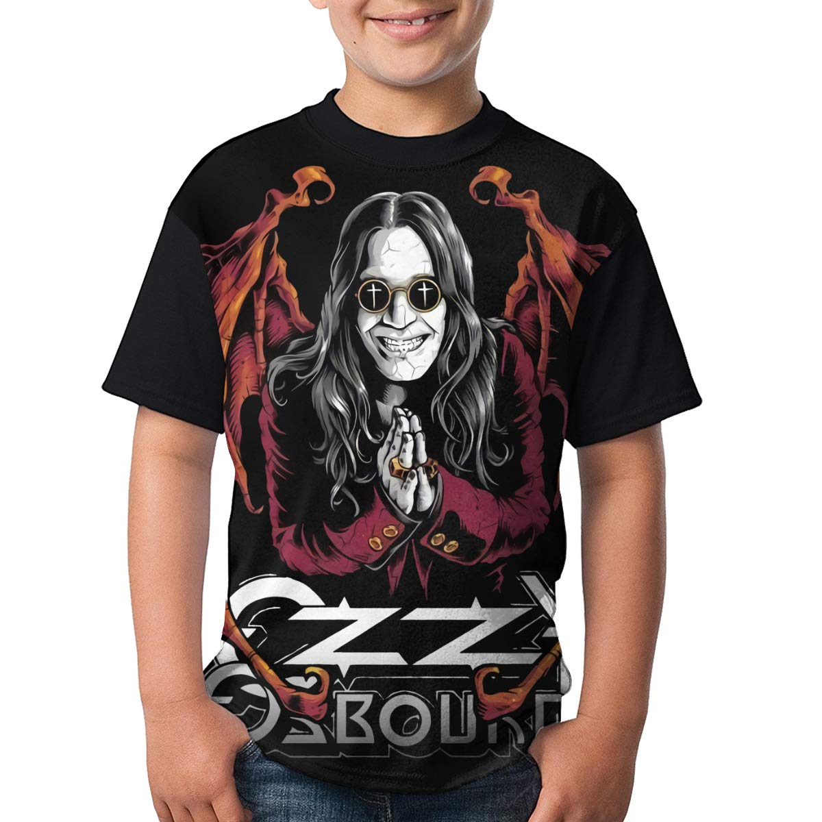 Kina D Wilson Ozzy Osbourne T Shirt Youth Boy Shirt Round Neck Short Sleeve Tees