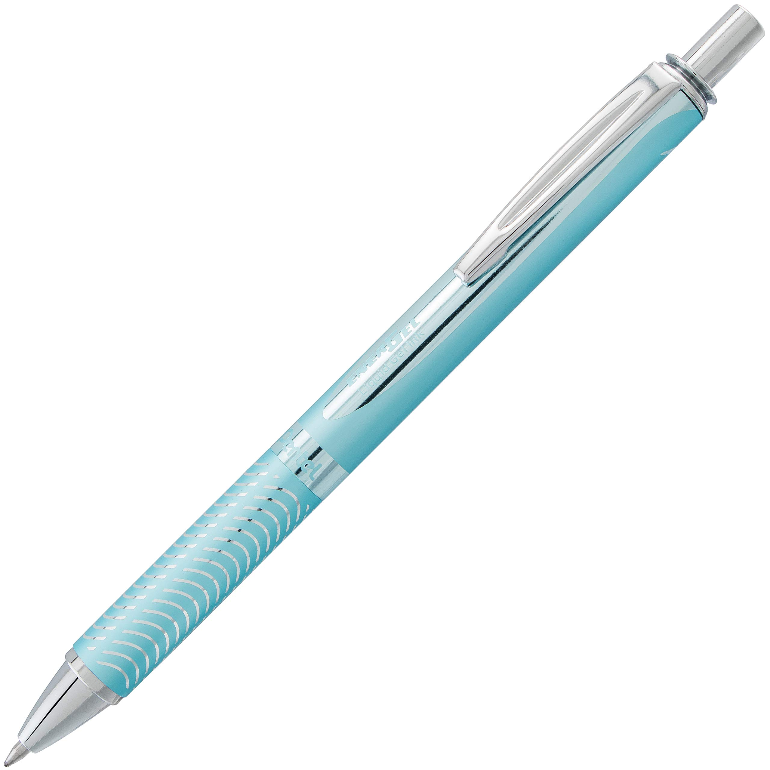 Pentel 0.7 mm Tip''EnerGel Sterling Black Ink'' Pen - Baby Blue (Pack of 12)