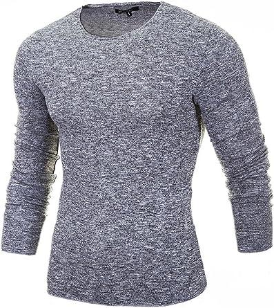 TALLA S. MERISH Jerséis para Hombre Cuello Redondo diseño Muy Bonito Slim Fit Conveniente para Todas Las Ocasiones, Modell 306