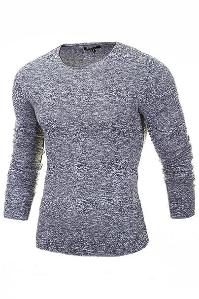 newest c3e0b e650d Merish Maglione lavorato a maglia uomo, Maglione di lana collo rotondo,  Slim Fit, vari colori, Sweatshirt 306