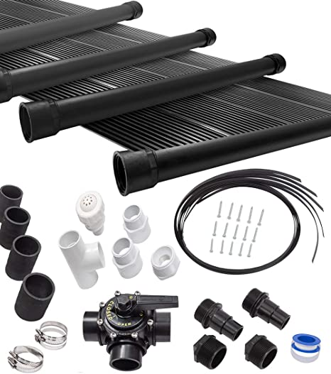 SunQuest 10-2X10 Solar Swimming Pool Heater Complete System with Roof Kits