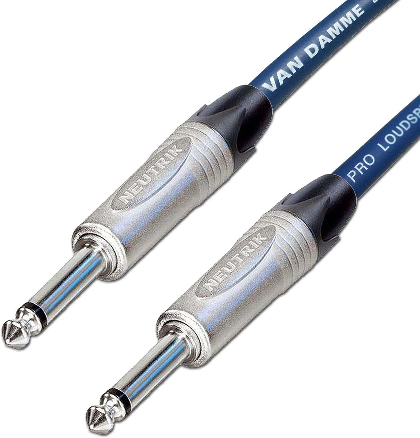 Van Damme Cable Guitar Lead Neutrik Straight to Right Angle Jack Plugs 3M White