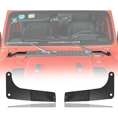 18-20 Jeep JL Wrangler 32'' Light Bar Hood Lower Mounting Bracket: Automotive