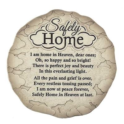 Dicksons Safely Home Memory Quote Textured 9.75 x 9.75 Resin Garden Stepping Stone Plaque : Garden & Outdoor