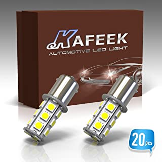 KAFEEK 20× Super Bright 1156 1141 1003 7506 BA15S LED Bulbs 18-5050 Chipset 12 Volt RV Camper Interior Lights, White