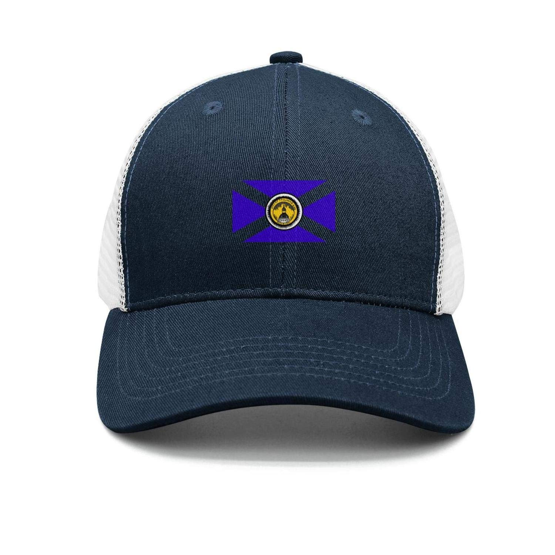 AkrCreative Flag of Tallahassee Florida Men//Women New Navy-Blue Trucker Caps Hip Hop Caps