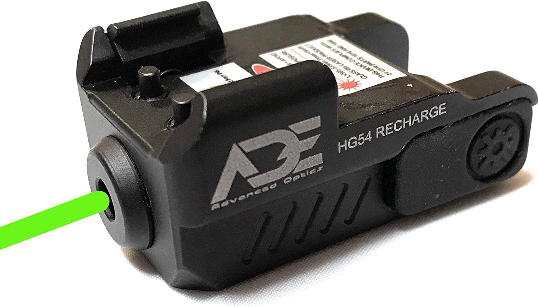 Ade Advanced Optics HG54G Rechargeable Strobe Laser Sight for Pistol Handgun, Green