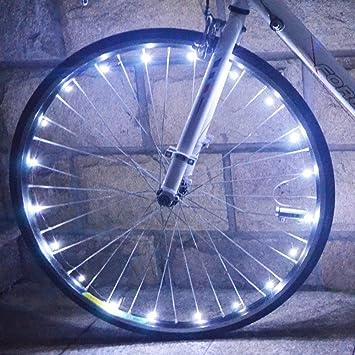 Rueda de seguridad para bicicleta, 20 ledes, colorida, fría, para ...