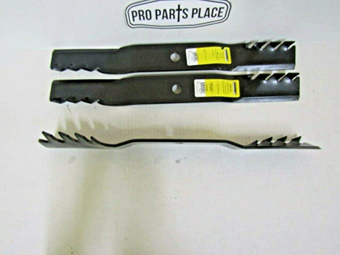"""D372 3 Toothed Blades Fits John Deere with 62/"""" deck M143504 M145719 M145119"""