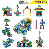Kurtzy Mini DIY Building Block Puzzle Toy Set for Kids Construction Learning Educational Creative Activity 266Pcs