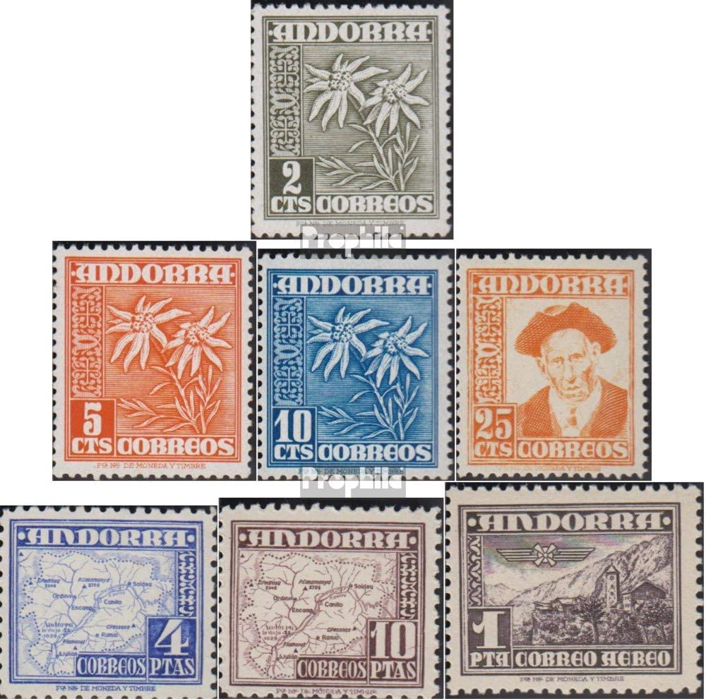 Prophila Collection Andorra - españolas Correos 52-58 (Completa.edición.) 1951 símbolos (Sellos para los coleccionistas): Amazon.es: Juguetes y juegos