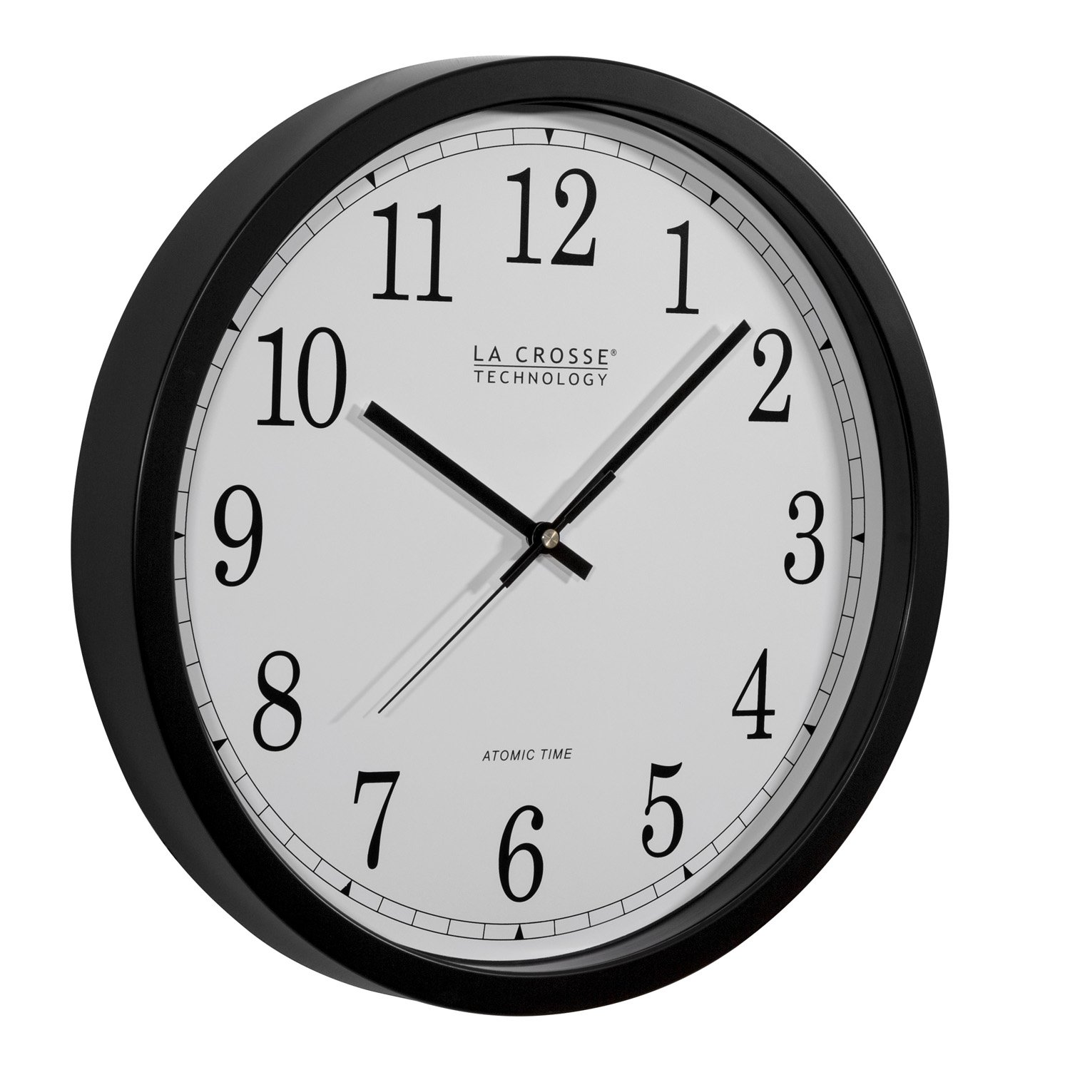 Amazon la crosse technology wt 3143a int 14 inch atomic wall amazon la crosse technology wt 3143a int 14 inch atomic wall clock black home kitchen amipublicfo Choice Image