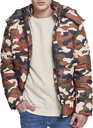 Urban Classics Hooded Camo Puffer Jacket Chaqueta para Hombre
