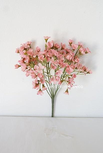 Amazon sweet home deco 10 silk waxflower bush small filler sweet home deco 10 silk waxflower bush small filler flower bush craft flower bush mightylinksfo