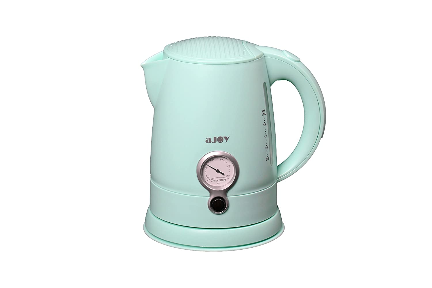 aJOY Professional Designer Series 1.7L Cordless Electric Kettle, BPA Free, 360 Degree Conceal Heating Element, Overheat Protection Control (Green)
