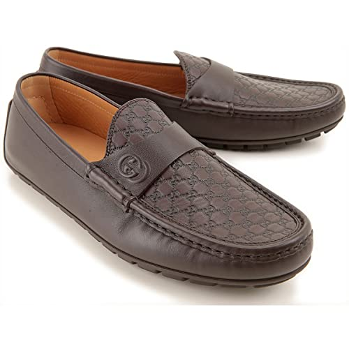 Luxury Fashion Outlet - Mocasines de Piel para Hombre marrón marrón, Color marrón, Talla 41: Amazon.es: Zapatos y complementos