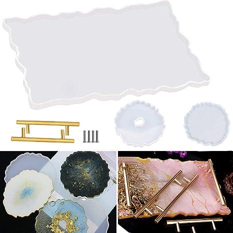 Geode Tray Serving Tray Bathroom Tray Living Room Decor Copper Decor Luxury Home Decor Tray
