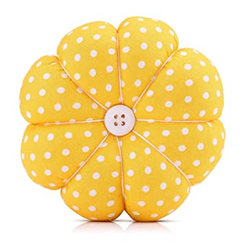 4 Wrist Pin Cushion,Creative Pumpkin Fabric Sewing Needles Pin Cushion with Elastic Wrist Belt