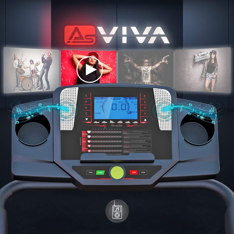 AsVIVA Unisex - Cinta de Correr para Adultos T17 Cardio Runner ...