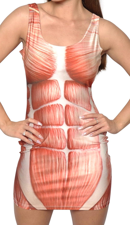 Amazon Badassleggings Womens Anatomy Sleeveless Above Knee