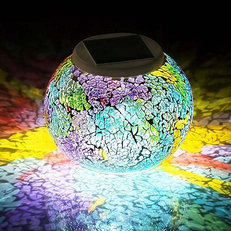 LED Solare Lampada da tavolo vetro lampada solare lampada da tavolo Lampada Giardino Lampada Solare