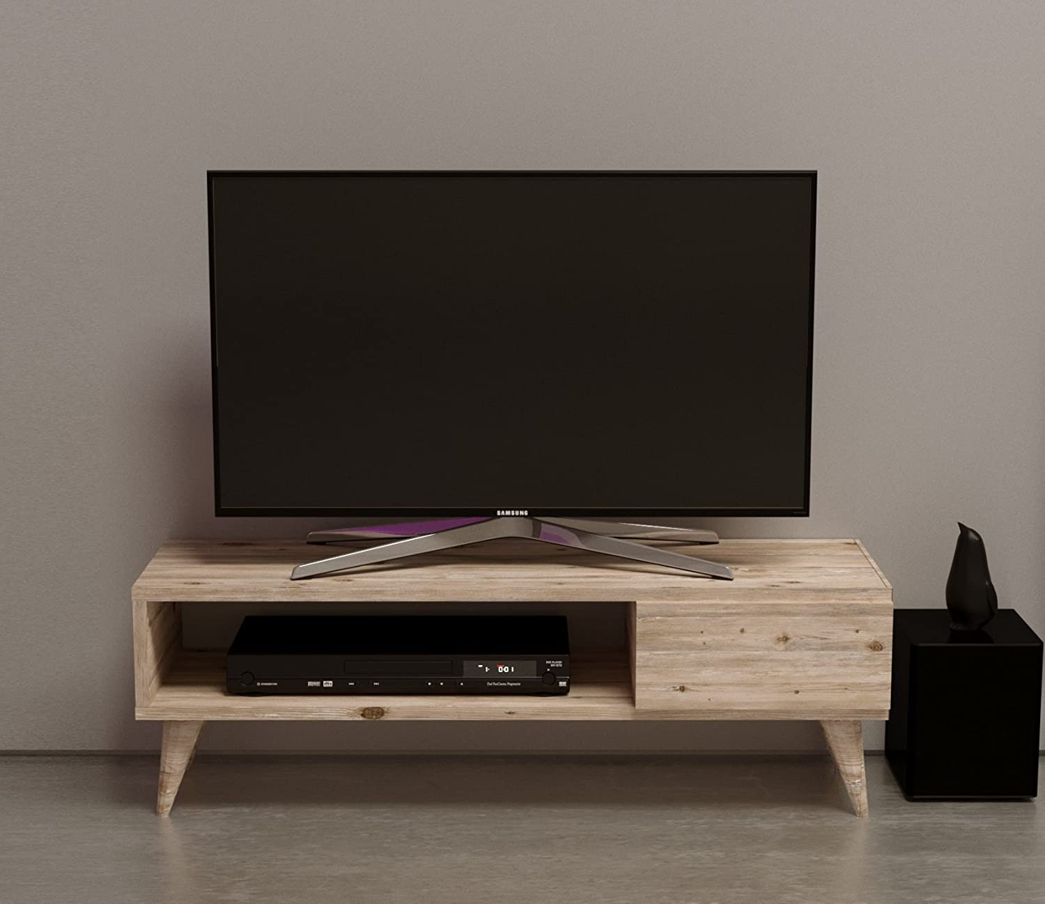Inca Tv Stand Natural Wood Colour Tv Lowboard Tv Unit  # Table Pour Tv Lcd En Bois