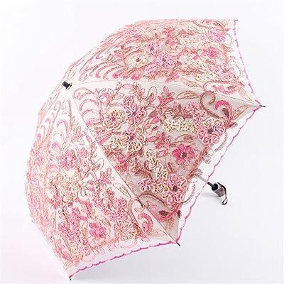 SHISHANG parapluie parapluie soleil créatif anti-torsion ultraviolets et tourne la moitié ensoleillée dentelle à double usage par 52cm * 8k fois la sélection 2 couleurs , 2 , radius: 52cm*8k