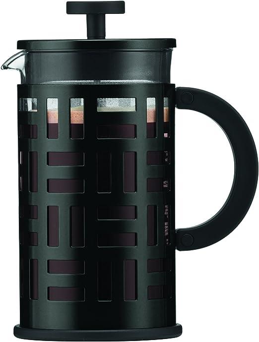 Bodum 11195-01 Cafetera émbolo, 1 Liter, Vidrio, Acero inoxidable ...