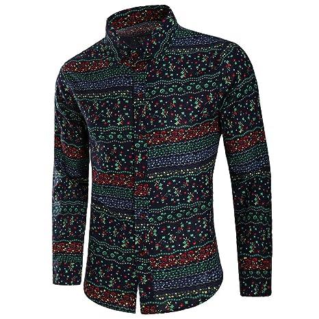 f053041765 Amazon.com: JPJ(TM) New ❤Men Shirts❤Mens Creative Fashion All Seasons  Printed Blouse Casual Long Sleeve Slim Shirts Tops: Clothing