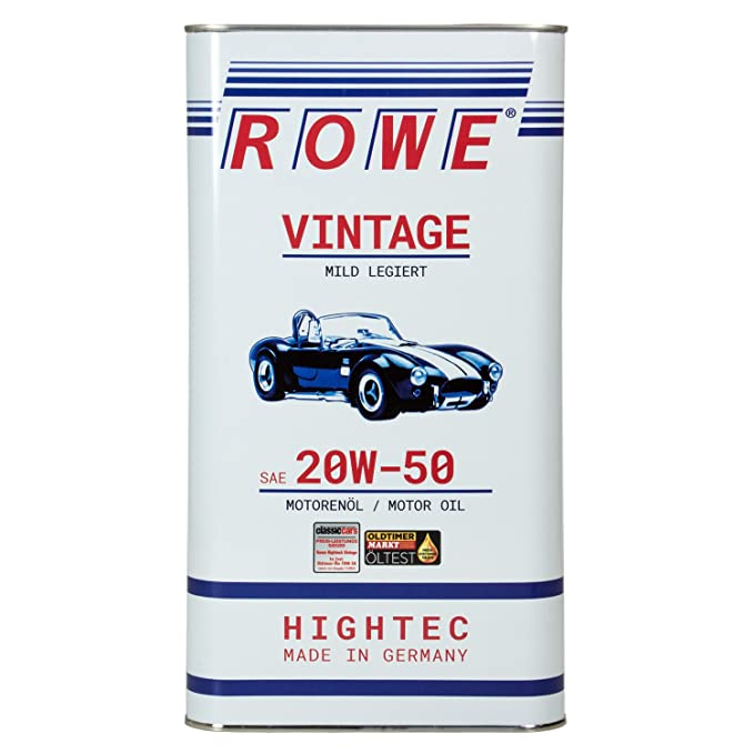 ROWE HighTec Vintage SAE 20 W-50 - Aceite de Motor, Mezcla Ligera, 5 ...