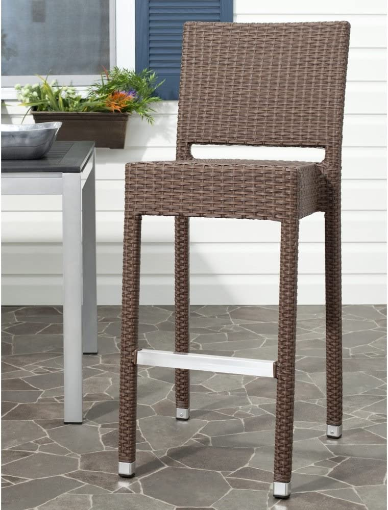 Safavieh Home Collection Bethel Brown Indoor Outdoor 29.5-inch Bar Stool