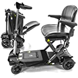 Transformer Automatic Foldable Lithium Powered Travel Scooter Black + Cane & Cup Holder