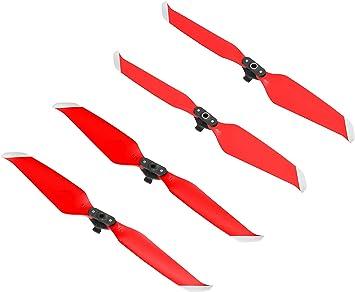 Opinión sobre Linghuang 7238 Palas de Hélice de Bajo Ruido Hélices de Repuesto Plegables para dji Mavic Air 2 Silenciador de Hélice de Color de Liberación Rápida (2 Pares, Rojo+ Plata)