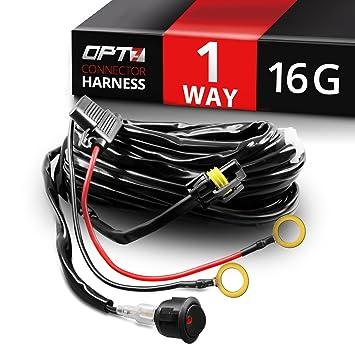 amazon com opt7 16 gauge 300w 1 way led light bar heavy duty wiring