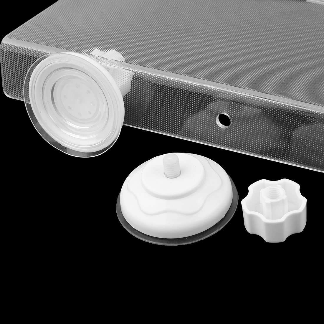 DealMux Suction Up Animal Reptile Acrylic Floating Island Basking Platform Pier Set Clear by DealMux (Image #2)
