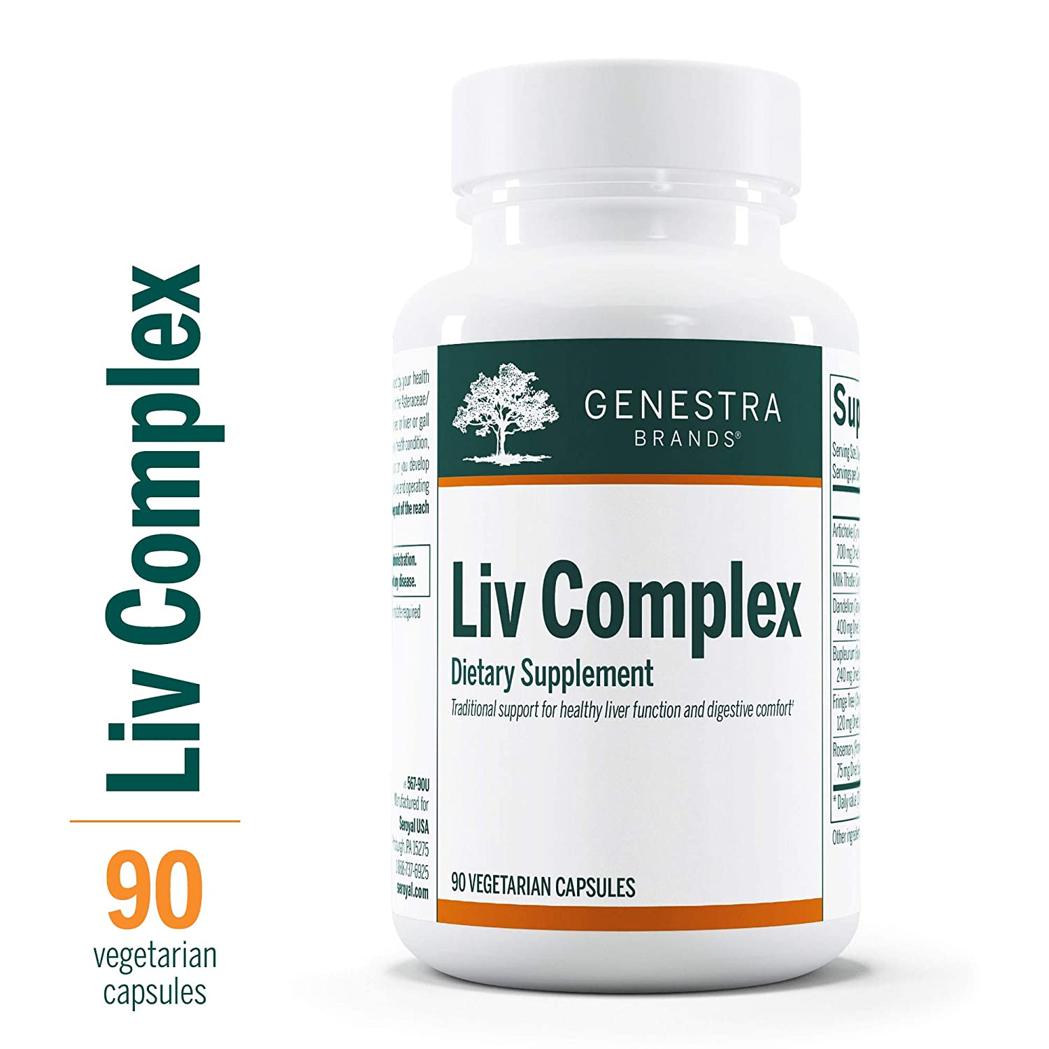 Genestra Brands – Liv Complex – Liver Support Supplement* – 90 Capsules