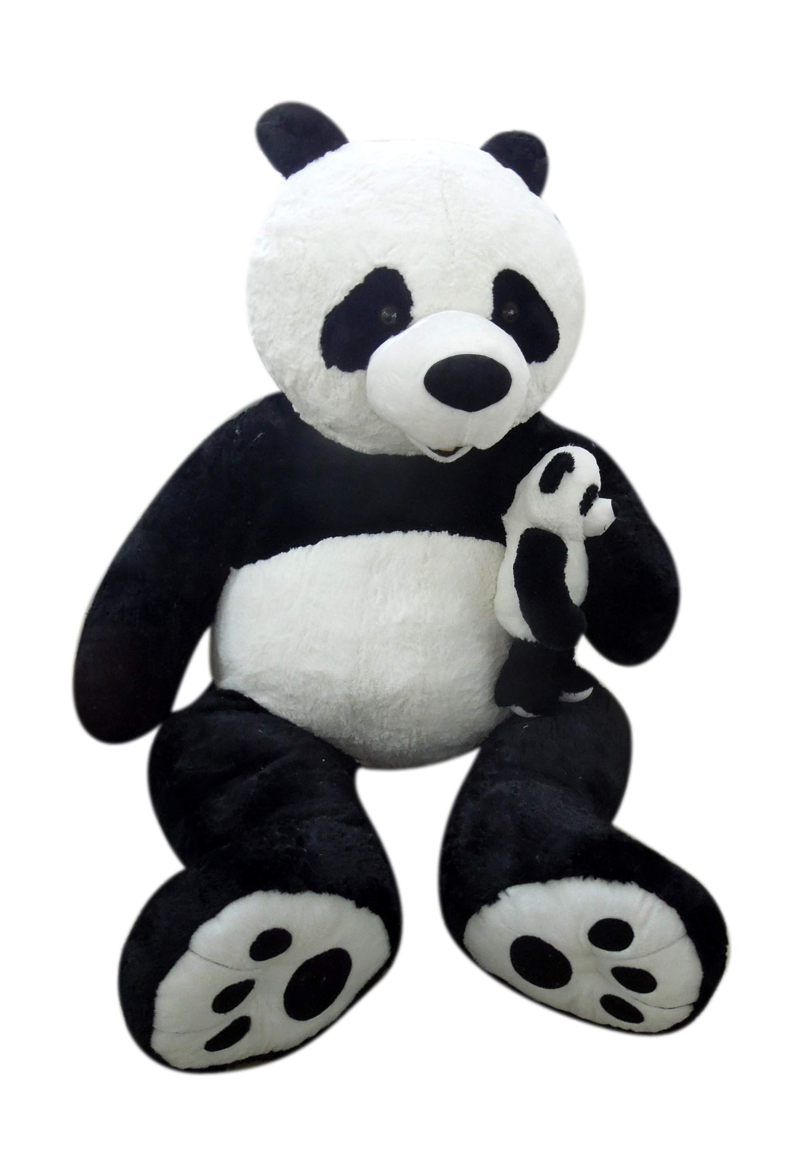 Giant Stuffed Animal 80'' (6.7 Feet) - Unique Gift for a Loved One - Soft and Cuddly (Panda with Baby) by Goffa
