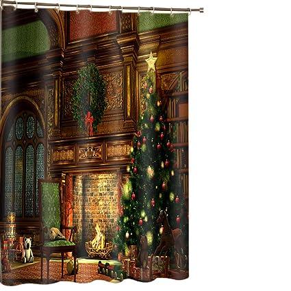 Amazon Beddinginn Merry Christmas Shower Curtain 3D Fabric