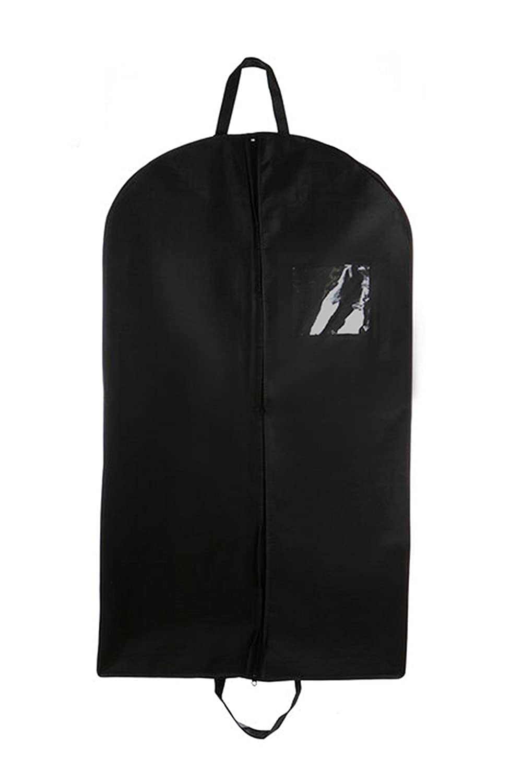 Long dress garment bag in suitcase