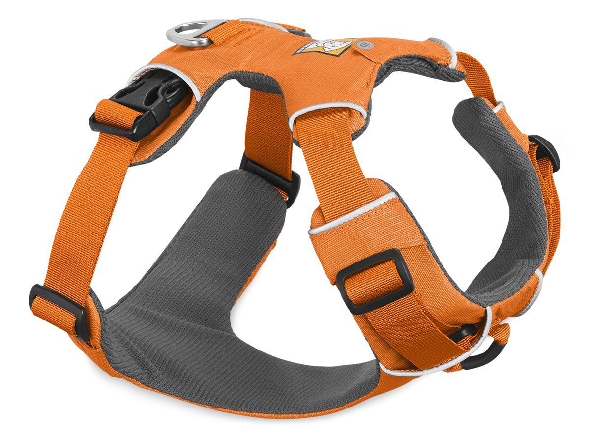 RUFFWEAR 2017 FRONT RANGE DOG HARNESS AND SAFETY BEACON ♦ ALL DAY TRAINING ADJUSTABLE ADVENTURE HARNESS AND SAFETY LIGHT ♦ ALL SIZES AND COLORS (L / XL, Orange Poppy)