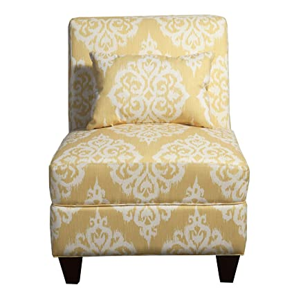 Amazing Benjara Bm194153 Wooden Armless Accent Chair With Toss Squirreltailoven Fun Painted Chair Ideas Images Squirreltailovenorg