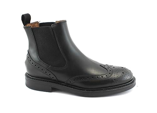Inglés Frau 73m6 Beatles Botines Negro Piel Hombre Zapatos Elástica dXHdPx