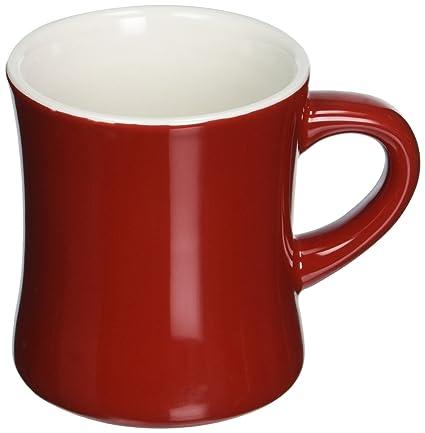 amazon com abbott collection avenue diner look porcelain mug red