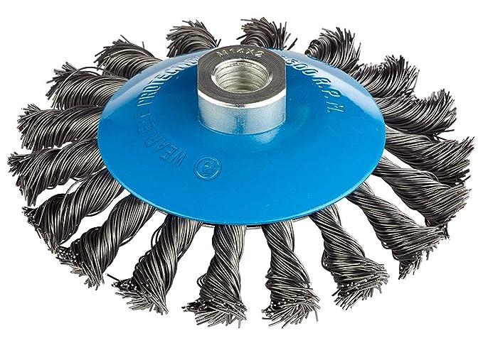 Scheibenbürste 115 mm Bohrung 22,2mm für Winkelschleifer Drahtbürste Kegelbürste