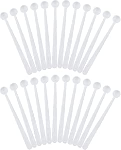 Cornucopia Mini Scoops Measuring Spoons (24-Pack); Micro 1/32 Teaspoon or 150 Milligram Measure for Cosmetics, Medicines, Powders, and Natural Sweeteners.15 CC