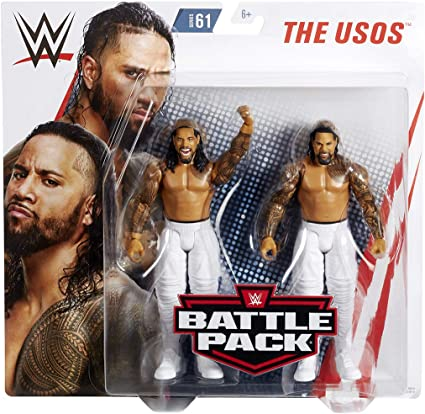 WWE Battle Packs 61 Mattel Action Figures The USOS Jimmy Uso /& JEY USO