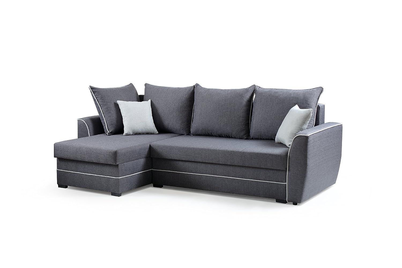 mb-moebel Ecksofa Sofa Eckcouch Couch mit Schlaffunktion und ...