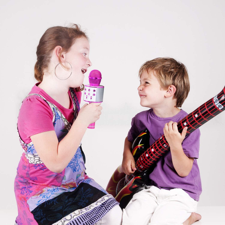 Microphone Bluetooth Karaoke Micro sans Fil Adulte Enfant Fille Cadeaux pour Enfants 4-12 Ans Gar/çon Keyian Jouets Gar/çon 4-12 Ans