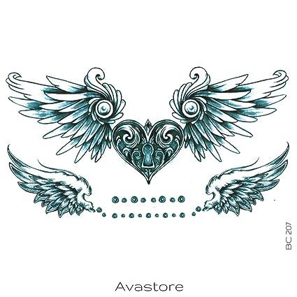 Tatuaggio Temporaneo Cuore Ali D Angelo Avastore Amazonit Bellezza